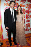 David Benioff and Amanda Peet at the HBO afterparty.