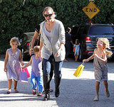 Jennifer Garner parties with her daughter.