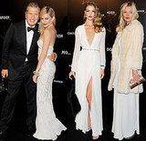 Sienna Miller, Kate Moss, and Rosie Huntington-Whiteley Go Neutral to Toast Mario Testino in Style