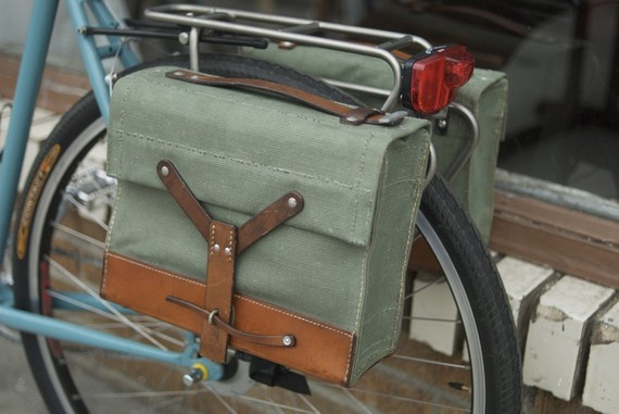 Panniers For Bikes Leather Army Bicycle Bike Panniers