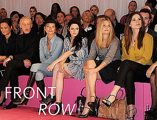 Pictures of Kate Moss, Kristen Stewart, Naomi Campbell, Anna Wintour and More at 2012 Spring London Fashion Week