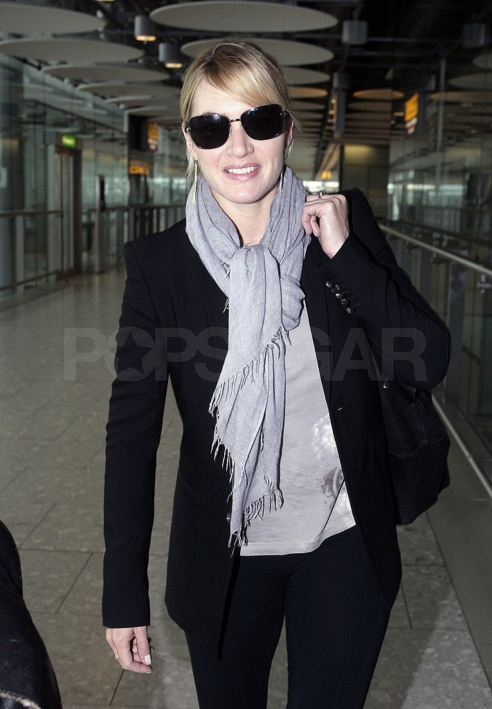 Kate Winslet returned to London following her Emmy win.