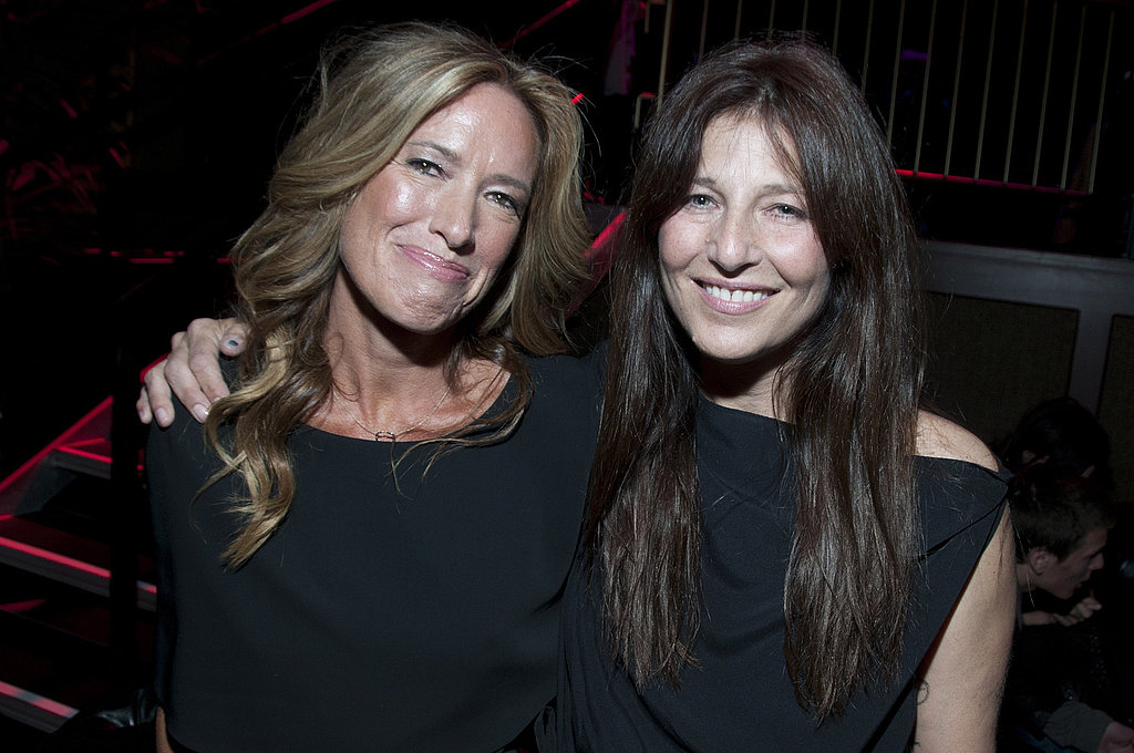 Rachael Horovitz and Catherine Keener attend the Moneyball Oakland premiere.