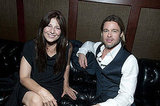Brad Pitt and Moneyball costar Catherine Keener in Oakland.