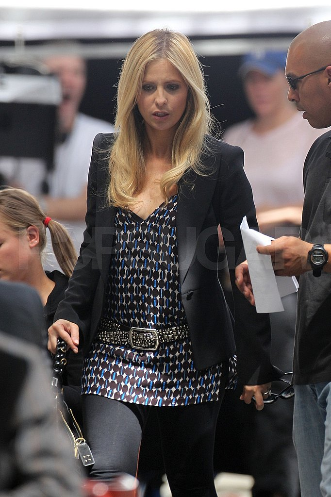 Sarah Michelle Gellar, star of Ringer, on the set.