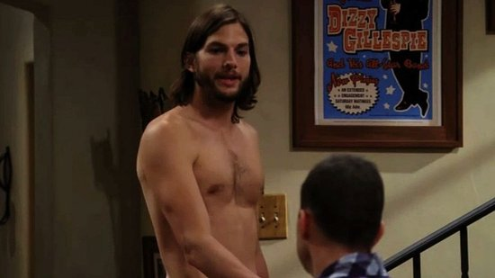 Video: Ashton Kutcher Gets Naked and Breaks Ratings Records For Two and a Half Men!