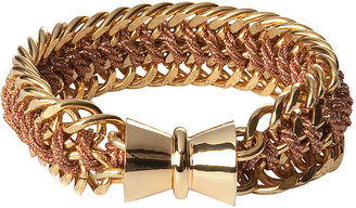 Bex Rox Rose Gold Cord With Gold Plated Chain Cuff ($240)
