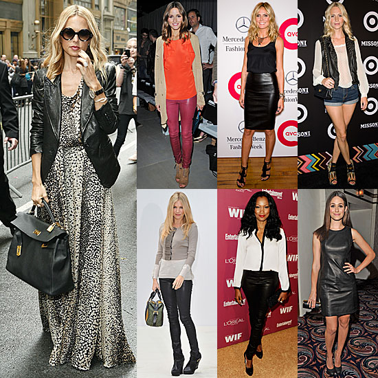 7 Days, 7 Ways: How Celebs Style Up Their Leather Looks