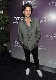 Penn Badgley at the launch of the new HTC Rhyme Android smartphone.