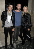 Kate Moss and Jamie Hince with designer James Small.