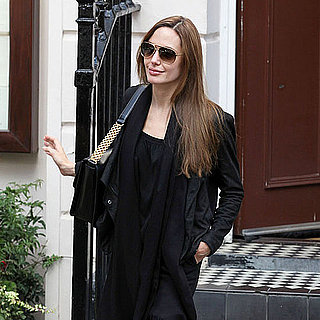 Angelina Jolie Leaving Indian Restaurant in London Pictures