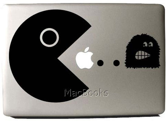 Pac-Man MacBook Decal ($9)