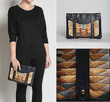 Embroidered iPad Clutch Case