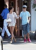 Justin and Selena took a stroll in Malibu.