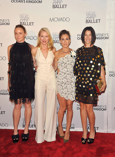 Naomi Watts, Stella McCartney, Sarah Jessica Parker, and Jessica Seinfeld at the opening of Ocean's Kingdom.