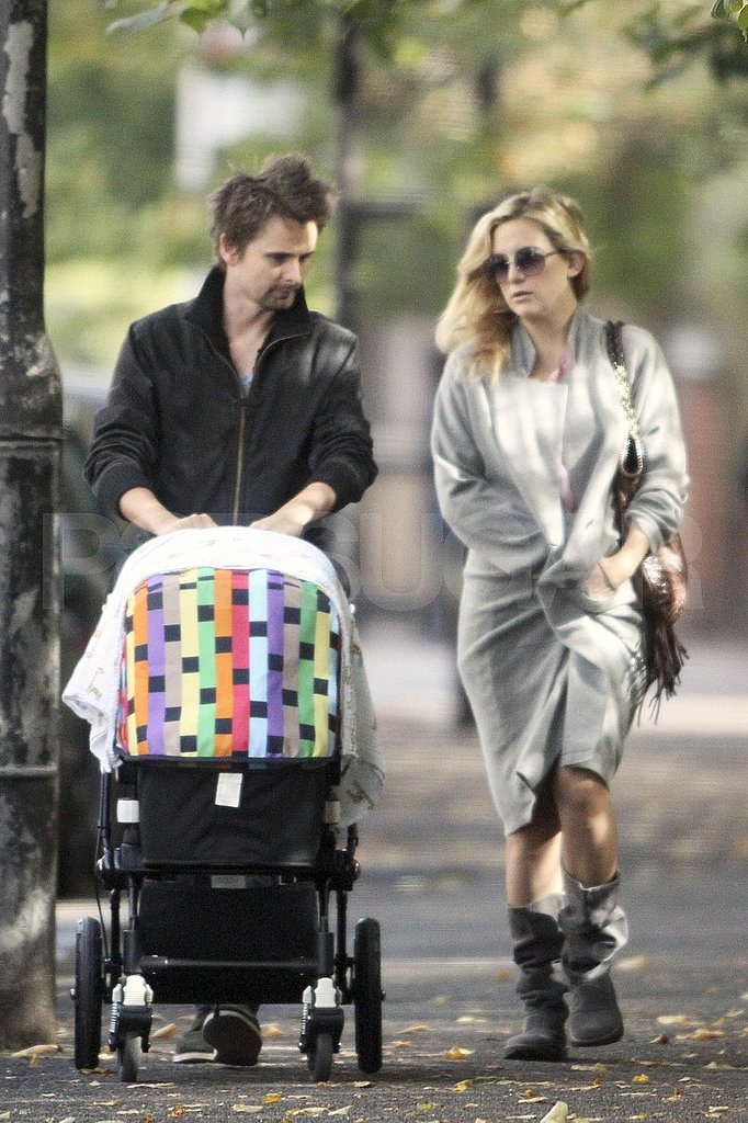 Kate Hudson and Matt Bellamy out in London with Bingham.