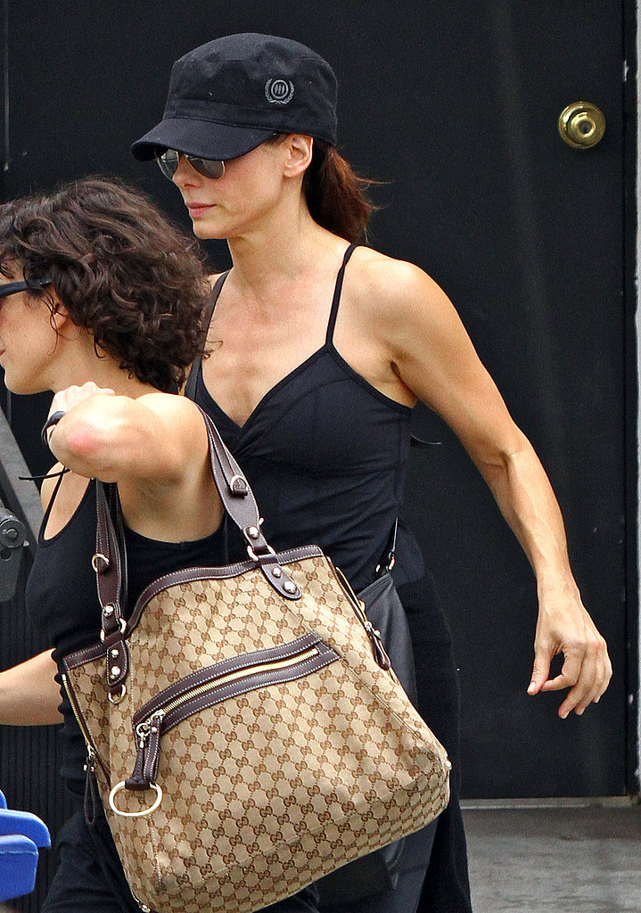 Sandra Bullock heads home.