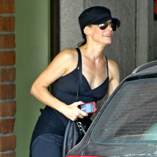 Sandra Bullock following a workout.