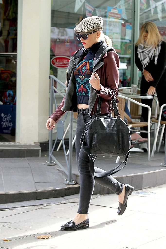 Gwen Stefani wore loafers for her walk around London.