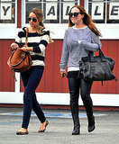 Lauren Conrad and a friend at the Brentwood Country Mart.