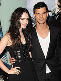 Lily Collins and Taylor Lautner at the Abduction premiere in London.