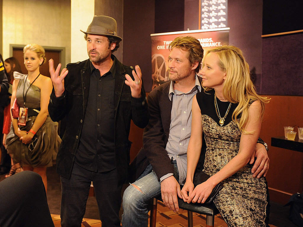Patrick Dempsey chatted with James Tupper and Anne Heche about Cirque du Soleil's Iris.