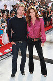 Cindy Crawford and Rande Gerber attended a Cirgue du Soleil premiere in LA.
