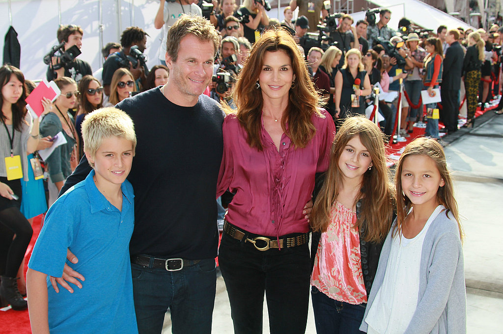 Cindy Crawford and Rande Gerber brought their kids and a friend to the premiere of Iris.