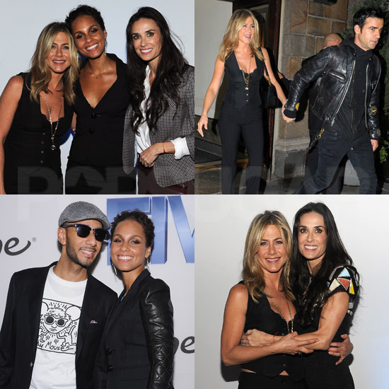 Jennifer Aniston Has Her Main Man Justin and Her Girls at Five's NYC Screening
