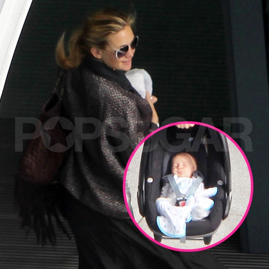 Baby Bing Takes Off With Kate Hudson and Matt Bellamy —See His Cute Face!