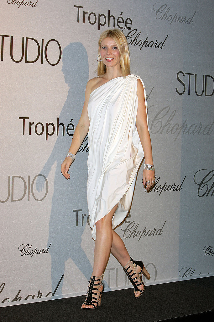Channeling a Grecian goddess vibe in asymmetrical Lanvin at Cannes in 2008.