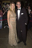 Glittering in Oscar de la Renta with dad Bruce Paltrow at the Fashion Group International's Night of Stars in 2001.