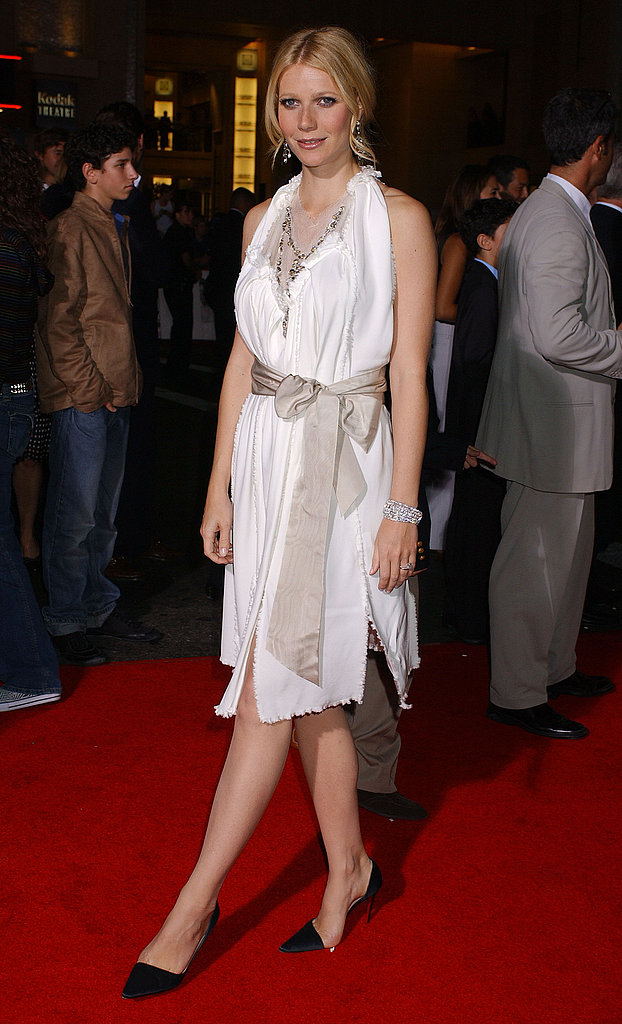 A bow-tied beauty at a film premiere in 2004.