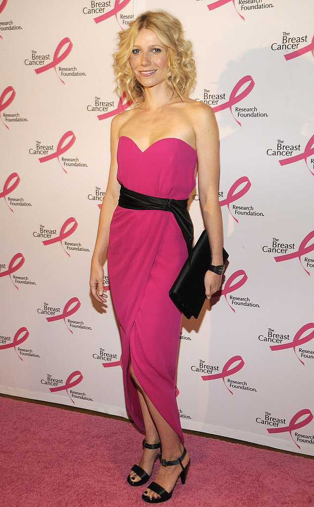 Appropriately pink at the Breast Cancer Research Foundation's Hottest Pink Party Ever in 2008.