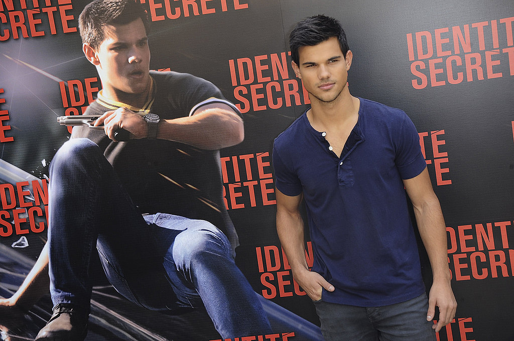 Taylor Lautner posed for photos at the Paris photo call for Abduction, or Identite Secrete