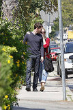 Kate Bosworth and Michael Polish wore sweaters to lunch in LA.