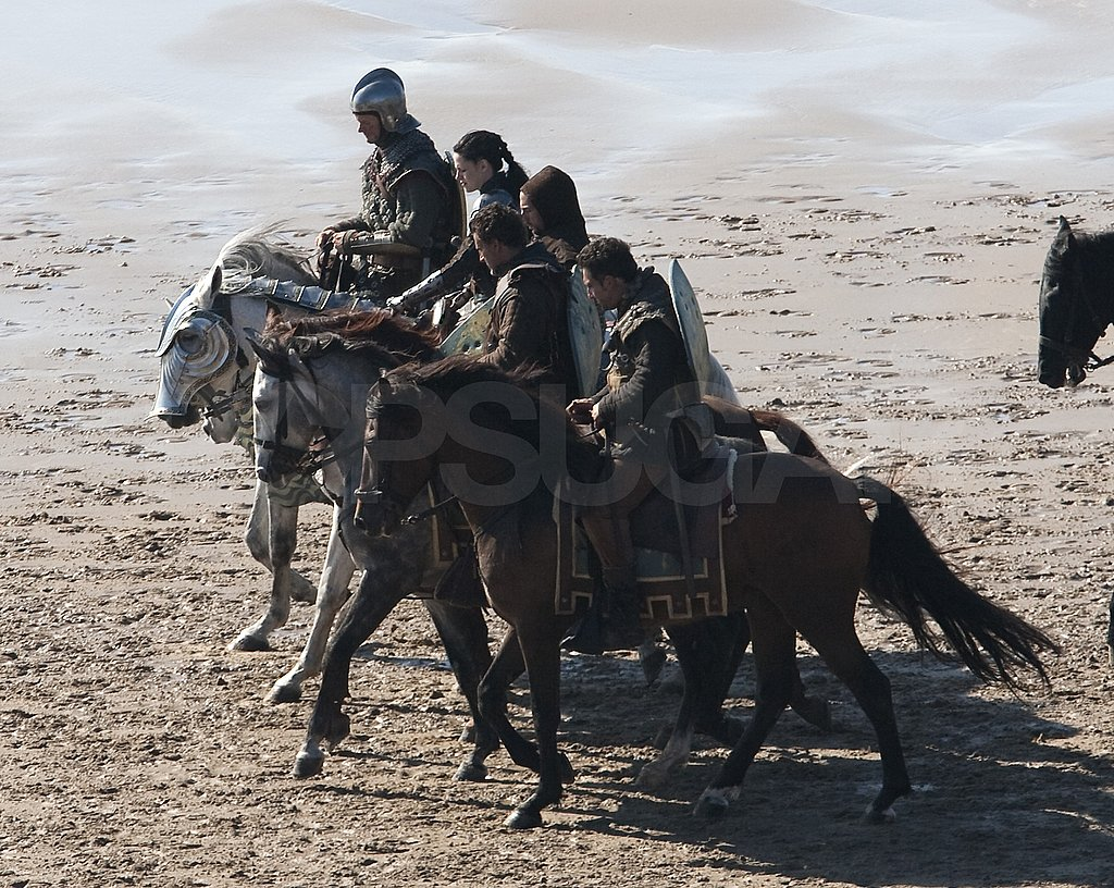 Kristen Stewart's horse led the pack.