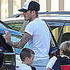 David Beckham Pictures at Romeo and Cruz&#039;s Practice