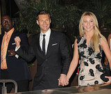 Julianne Hough and Ryan Seacrest ran into Randy Jackson at the Promise Gala.