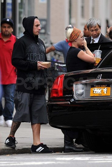 Carey Hart with Willow and Pink in NYC.