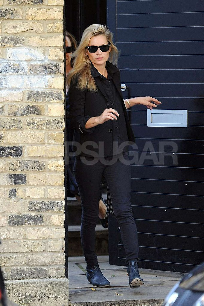 Kate Moss headed out for the day in London.