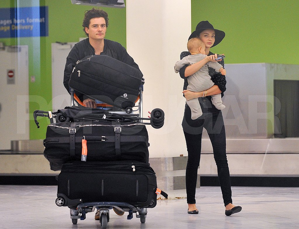 Aww —Orlando Bloom Is Overjoyed to Reunite With Miranda and Flynn!