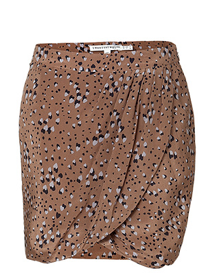 Layer this one over black tights and add a great cranberry-hued pump for an unexpectedly chic way to dress for cocktails. Twenty8twelve The Sabot Brown Silk Skirt ($265)