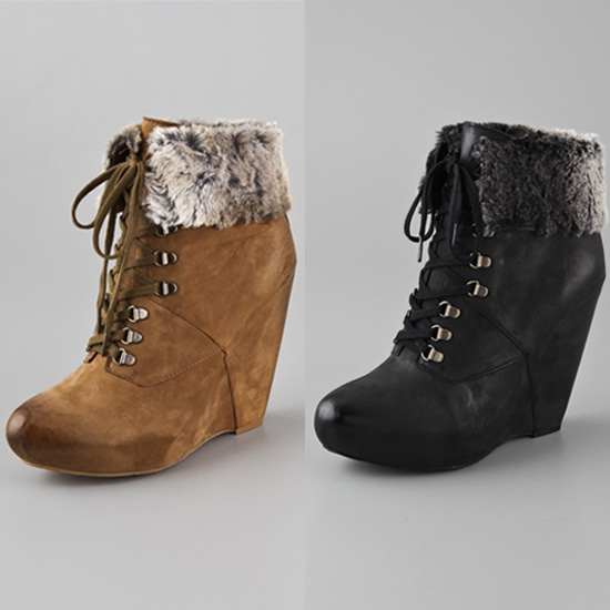Fur-Trimmed Booties