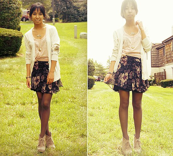 Cozy Sweaters & Floral Skirts