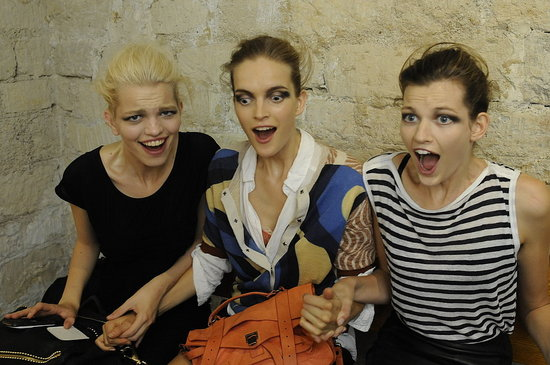 Air Guitar and Applause — Backstage at Dries van Noten, Rochas, and Rue du Mail