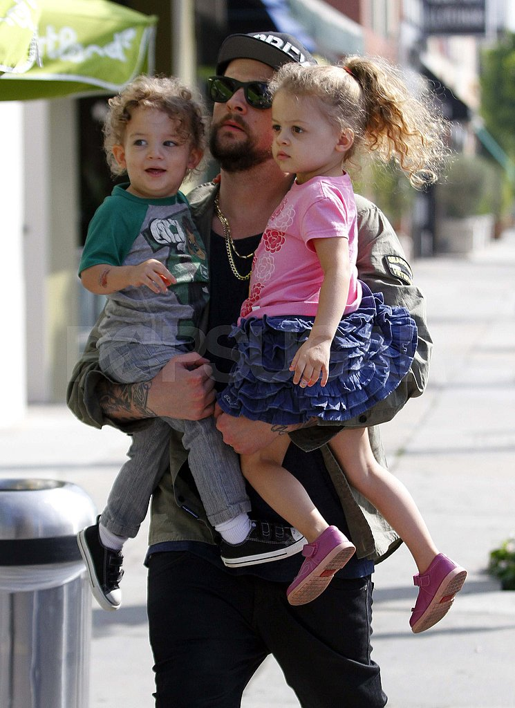 Joel Madden with Harlow and Sparrow in LA.