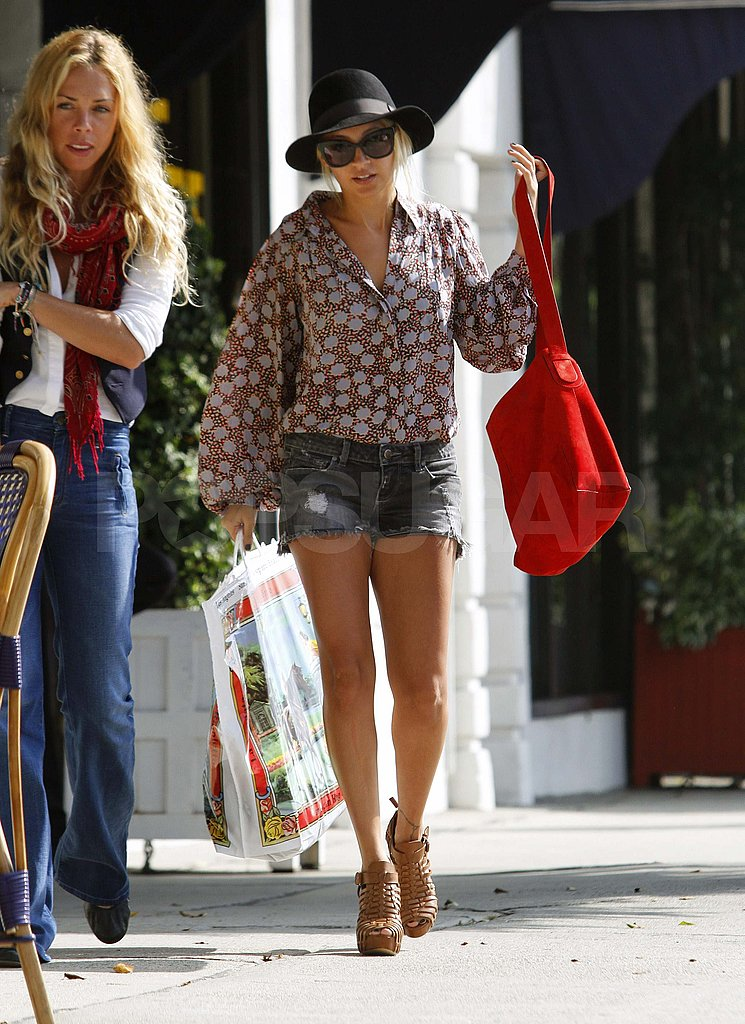 Nicole Richie in short shorts.