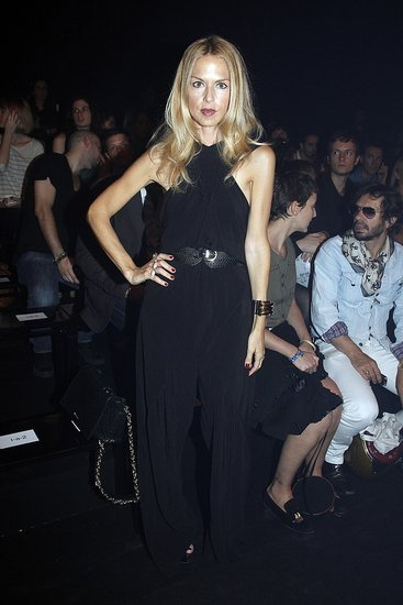 Rachel Zoe posed at the Thierry Mugler show.