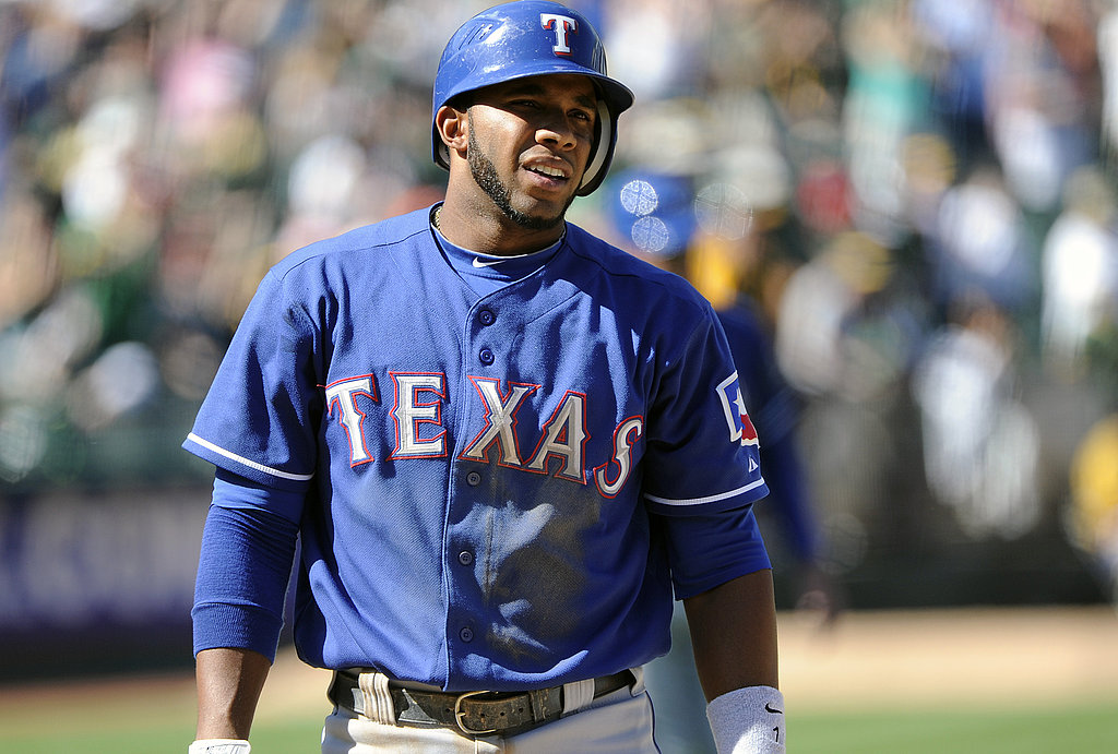 Elvis Andrus looks sad after striking out in the ninth inning against the Oakland Athletics this Spring.